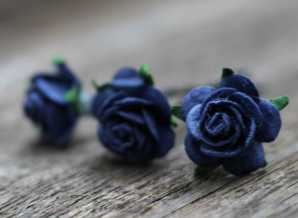 Wedding Hair Accessories in Navy Flower Hair Pins